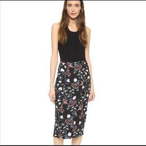 A.L.C. Daniels black floral silk pencil skirt 4